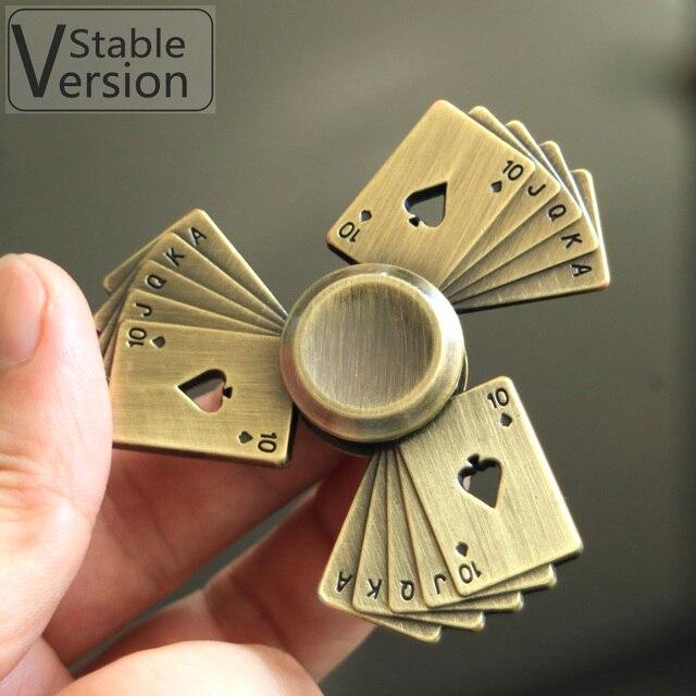 Kimtime Poker Spiner Fidget Hand Spinner Metal Toys Finger Spinner For Adult Children Toy handspinner Stable Version
