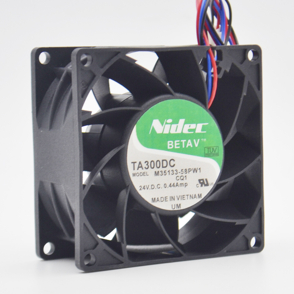 1pcs NIDEC V35132-55RA inverter fan 8038 8CM 24V 0.45A