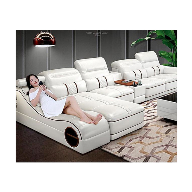US $1579.0 |Wholesale living room furniture cheap leather corner sofa set 7  seater sectional-in Living Room Sofas from Furniture on Aliexpress.com | ...