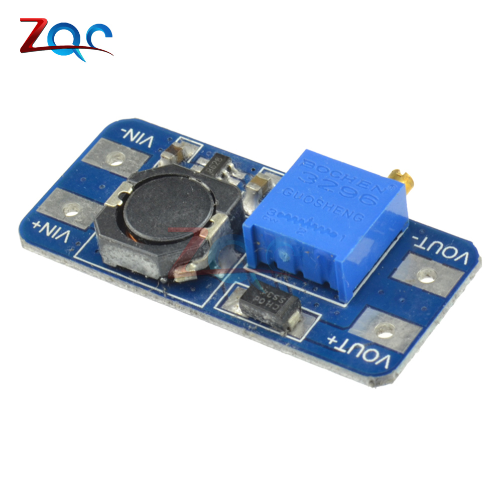 5PCS MT3608 DC-DC Step Up Converter Booster Power Supply Module Boost Step-up Board MAX output 28V 2A For Arduino 5 pcs dc dc adjustable boost module 2a boost plate 2a step up module with micro usb 2v 24v to 5v 9v 12v 28v mt3608 lm2577