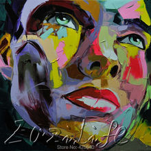 Palette knife painting portrait Palette knife Face Oil painting Impasto figure on canvas Hand painted Francoise Nielly 11