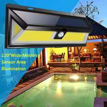 New 180 LED Solar Wall Light Energy Saving Lamp Sensor COB 3 Mode Outdoor Garden Waterproof