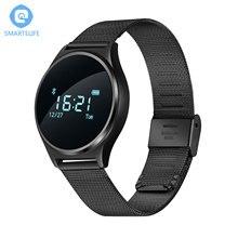 Smartelife тонкий Bluetooth SmartWatch С сердечного ритма Мониторы Приборы для измерения артериального давления Смарт-часы Беспроводные устройства для IOS телефона Android