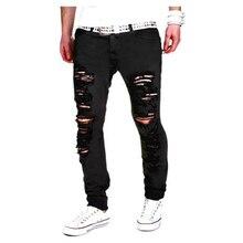 Mens Joggers 2019 Brand Male Trousers Men Pants Casual Sweatpants Jogger Black Hole casual pants XXL