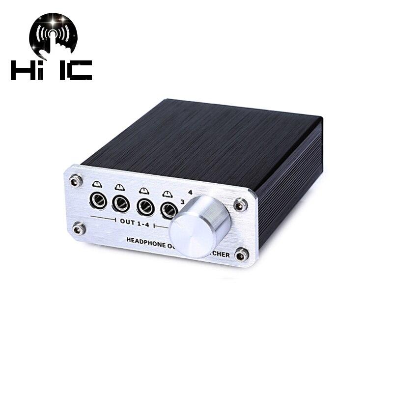 4 Input 4 Output Audio Signal Switcher Switch Splitter Selector Box Headphone Switcher Mp3 Switcher Sound 3.5mm Headphone Switch Be Shrewd In Money Matters
