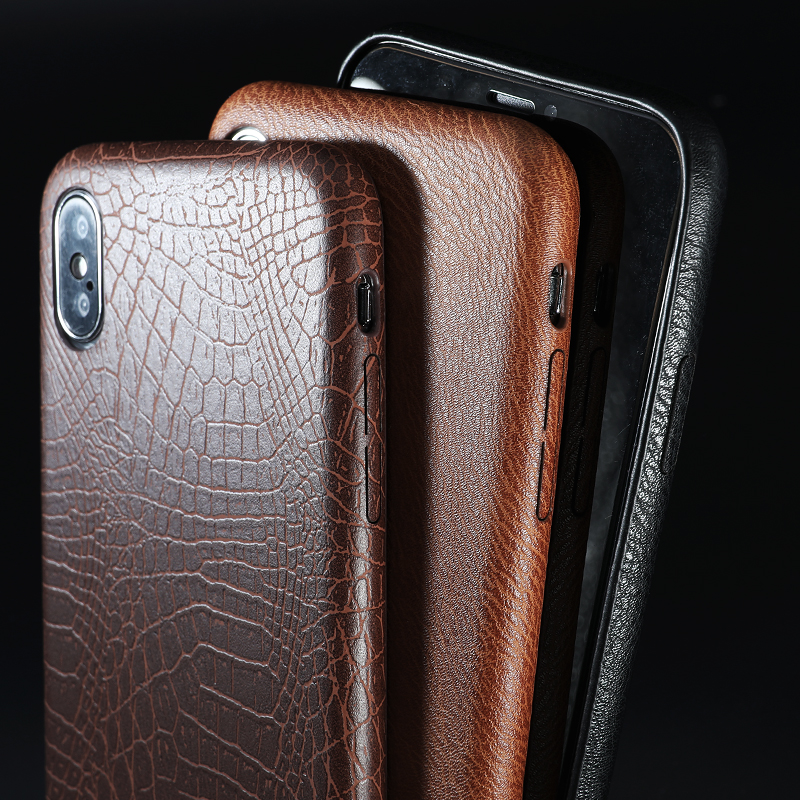 PU Leather Pattern Phone Case for iphone 6 6s 7 8 plus Case Back Cover For iphone X xs max XR Case (5)