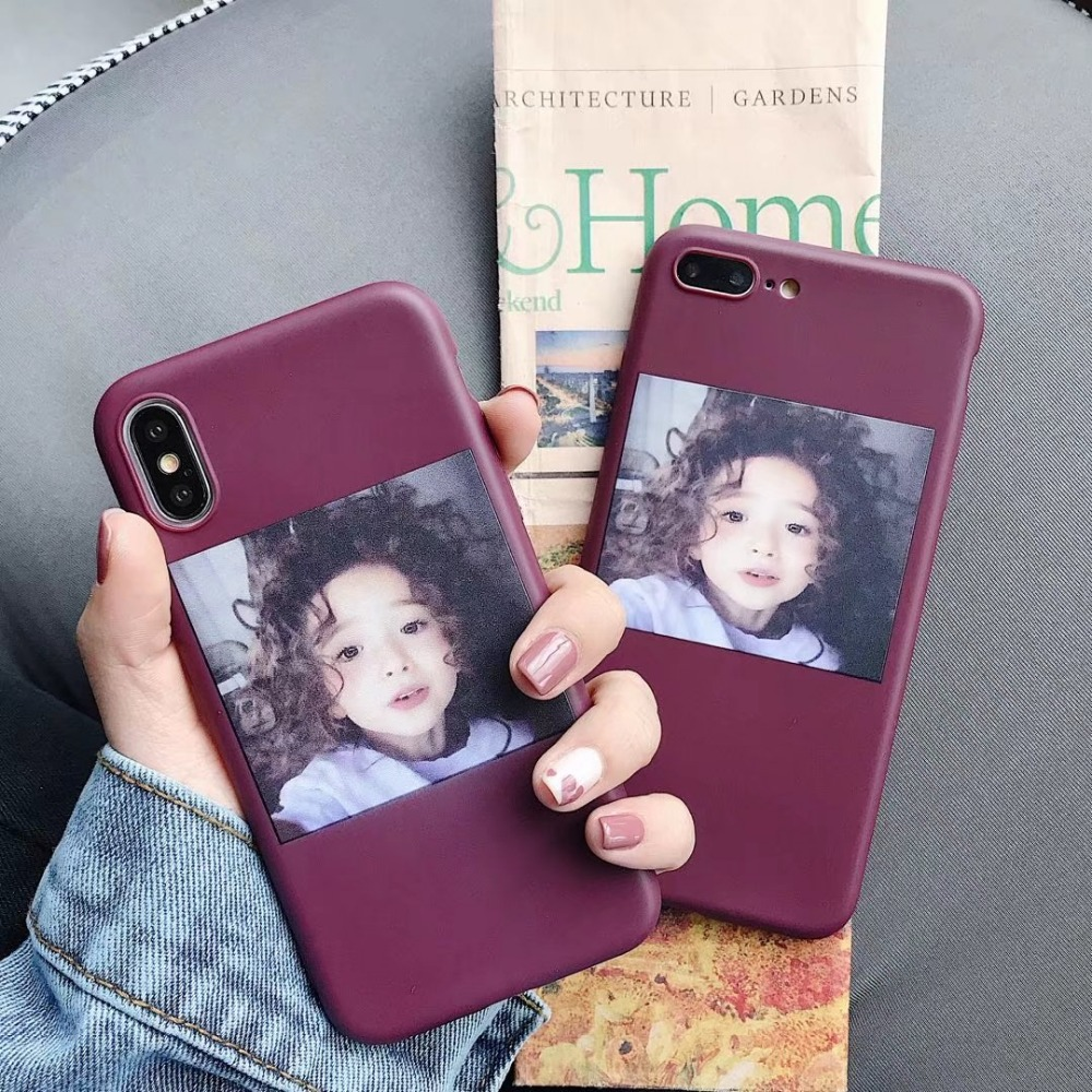 Ultra Thin Soft TPU Wine Red Case For iphone X 6 6s 6plus Silicon Case For iphone7plus iphone 8 7 Plus Original Cover For Women