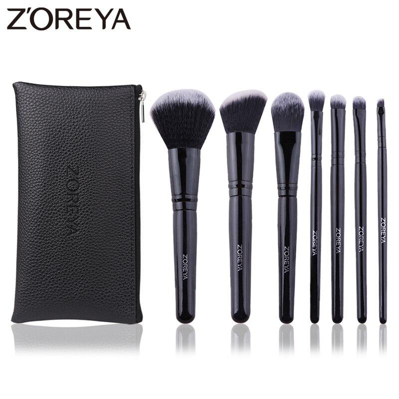 zoreya marca preto angulado blush crueldade livre maquiagem escovas confortavel sintetico po sombra para os olhos