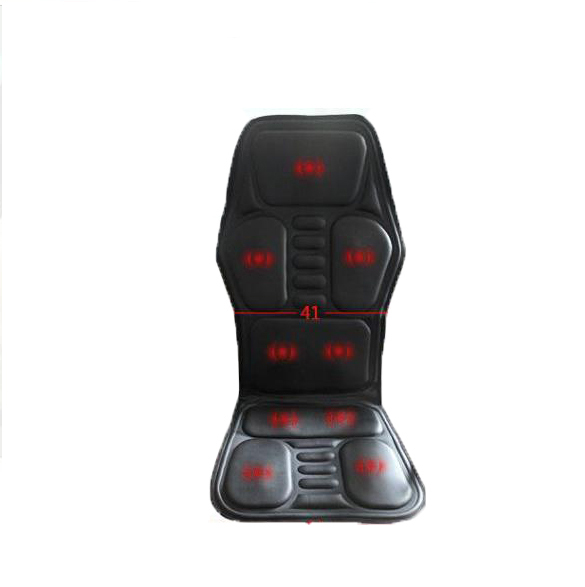 Heated Back Massage Seat Topper Car Home Office Seat Massager Heat Vibrate Cushion Back Neck Chair Car Pain + An Plug-Adapter black heated back massage car home office chair seat topper car home office seat neck massager heat vibrate cushion relaxation