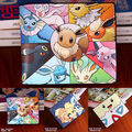 2016 Nova Pokemon Umbreon Eevee Flareon Dos Desenhos Animados Da Moeda Da Carteira Bifold Bolsa Com Zíper