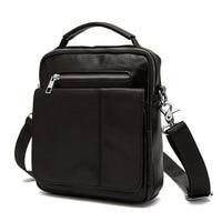 Vertical section Small Hand Bag Men Simple Casual Zipper Shoulder Bags Genuine Leather Bag Designer Cowhide Male Messenger Bags