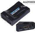 МХЛ HDMI К SCART 1080 P Видео Аудио-видео Преобразователя Скалер Конвертер HDMI1.4 AV Сигнала Адаптер HD Приемник для Смартфонов Небесно-СТБ DVD
