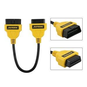 Image 5 - Autool obd2 cabo 14 cm 1 m 1.5 m 40in obdii extensão do carro cabos & conectores para idiag/5c/v/golo estender obdii cabo odb adaptador