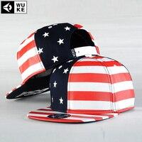 WUKE USA Flag Snapback Caps American Flag Hat Gorras Star With Striped Men S Sports