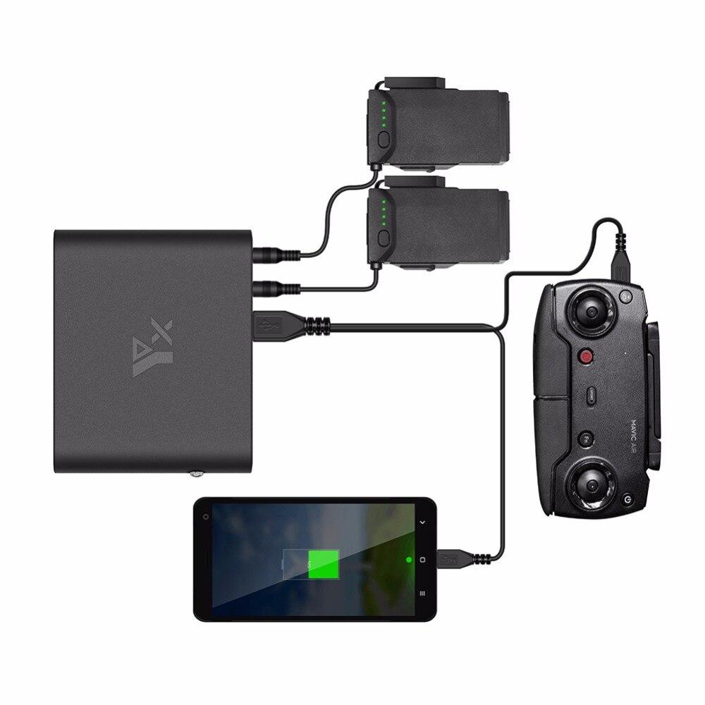 Drone Портативный мобильный Мощность Зарядное устройство Батарея/пульт дистанционного управления зарядки банк USB Зарядное устройство для DJI ...