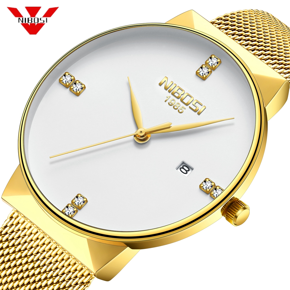 NIBOSI Mens Watches Top Brand Luxury Men Fashion Sports Watches Men's Waterproof Quartz Date Clock Man Army Military Wrist Watch