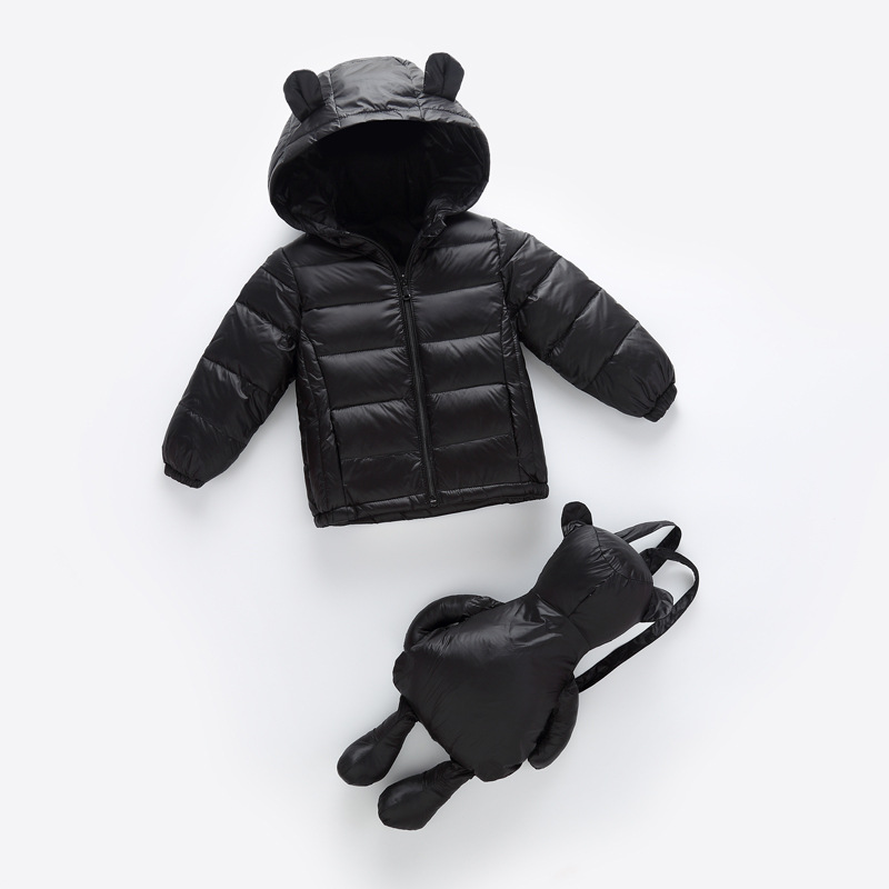 childrens down jacket winter warm new products boys and Girls Backpack money down children s wear short factory direct sales