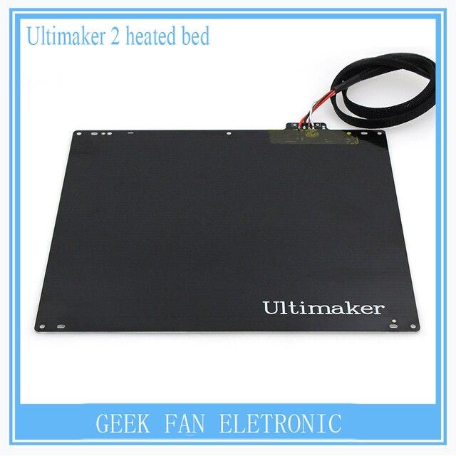 3D принтер электронных DIY Ultimaker 2 Частей Принтера UM2 24 В 165 Вт горячей кровать алюминиевого сплава с подогревом кровать пластины с кабелем 3D0042