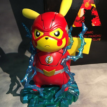 Il Flash Figura Flash Cos Pikachu Comic 15 CM PVC Action Figure Toy Collection Modello Regalo