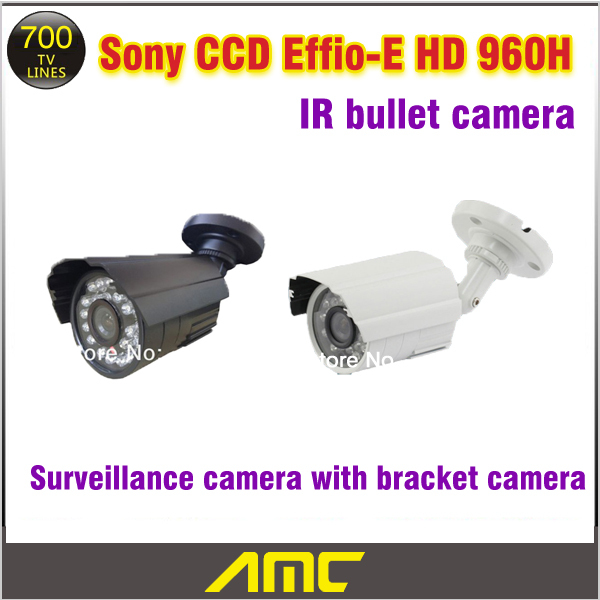 2 PCS CCD Sony CCTV Camera 700TVL 24Pcs LED CCTV Security Camera Outdoor IR Night Vision Video Surveillance Camera with Bracket mini bullet cvbs ccd camera 700tvl with headset mount for mobile surveillance security video 5v