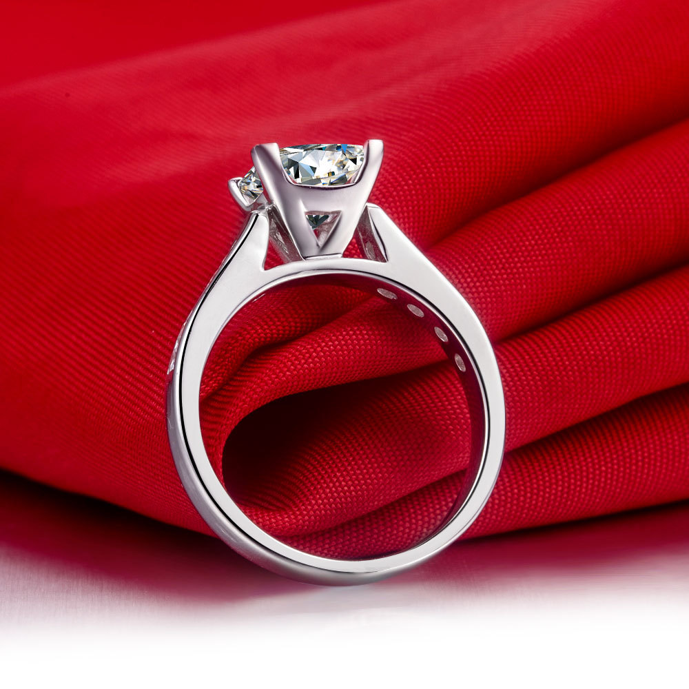 e85a18001f 2 Carat Princess Cut Engagement Ring for Women Quality Guarantee Real 925  Sterling Silver Set Rings-in Rings from Jewelry & Accessories on  Aliexpress.com ...