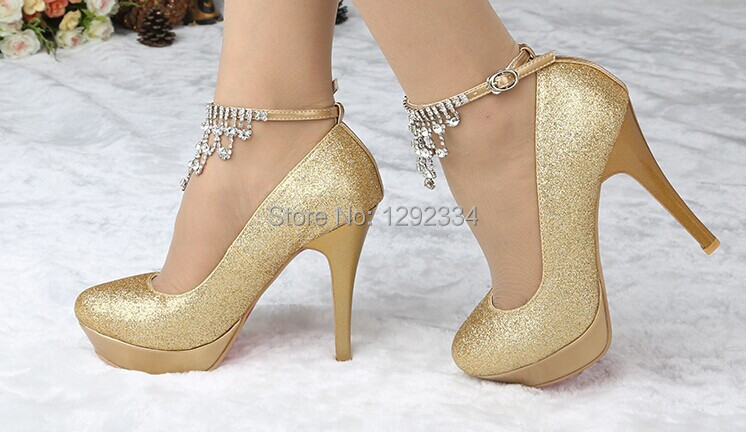 Gold High Heels For Prom - Qu Heel