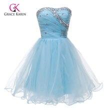 9e3b2c16663b85 Zwart wit roze blauw korte homecoming jurken grace karin staaflijst  goedkope sweetheart prom gown meisje mini