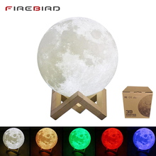 LED Night Light Moon Lamp For Child 3D Print 16 Colors Change Remote Control Bedroom Night Lamp Home Decor Creative Kid's Gift