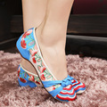 Veowalk Flower Embroidery Women Chinese Vintage Old Beijing Cloth Shoes Ladies Comfortable Casual Flats Soft Slip-On Ballets