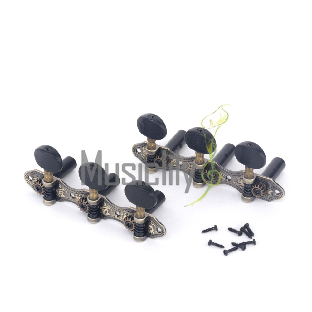 Musiclily pro Baker Style Classical Guitar Machine Heads Tuners Tuning Keys 3X3 Set a set of 3r3l string tuners tuning peg machine heads for classical guitar