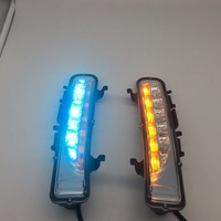 LYQ With 3 Color Or Yellow Turning Function Chromed ABS Cover 12V Car DRL LED Daytime