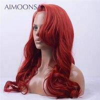 Рыжий парик Цветной человеческих волос парики кружева Wront парик предварительно сорвал с ребенком волнистые волосы парик для Для женщин бра