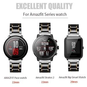 Image 2 - 20 мм 22 мм керамический ремешок для часов AMAZFIT Pace/Amazfit Stratos 2 3 /Amazfit Bip для Samsung Gear S3 Frontier керамический ремешок
