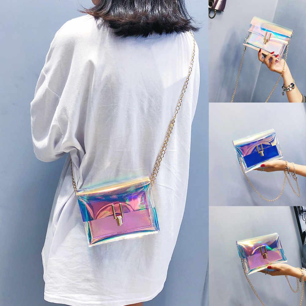 Tas untuk Wanita 2019 Tas Bahu Dompet dan Tas Wanita Transparan Tas Selempang Messenger Bag Kantung Utama Femme Bolso Mujer