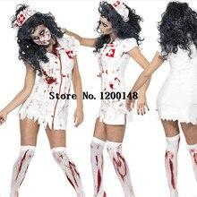 7eeb40f90a2be Sexy Lady Halloween Scary Bloody Mary Nurse Costumes Nurse Cosplay Dress  Halloween Theme Party Zombie Nurse