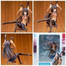 Anime seishun buta yarou wa coelho menina seishun buta yarou wa sakurajima mai sexy menina pvc figura de ação modelo brinquedos adultos boneca