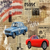 Free Shipping 3D Stereo Wallpaper Vintage Newspaper Car Tooling Background Wall Wallpaper Custom Living Room Mural