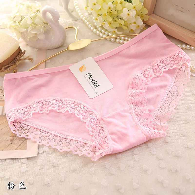 d1b36313d42d Sexy Lace Trim Panties Cotton Briefs For Women Color Bikini Women's  Breathable Girl Comfort Underwear Low