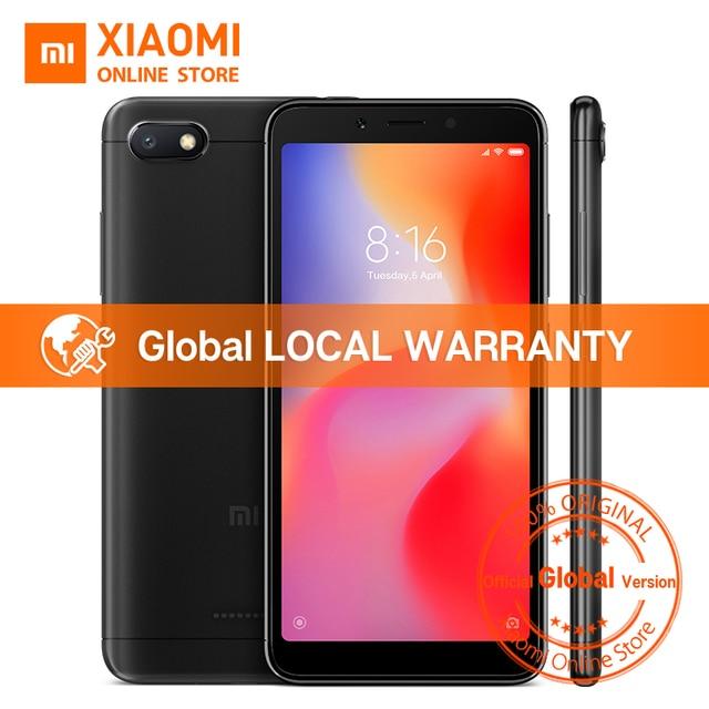 """הגלובלי גרסת Xiaomi Redmi 6A 2 GB 32 GB 5.45 """"18:9 מלא מסך MTK Helio A22 Quad Core 13MP אחורי מצלמה 3000 mAh נייד"""