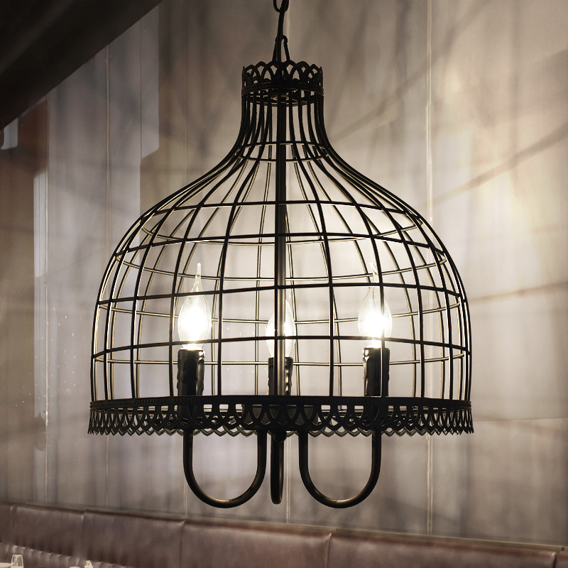 Loft Vintage Industrial Retro bird Cage Pendant Lamp Edison Light E27 Holder Iron Restaurant Bar Counter Attic Bookstore lamp
