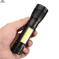 T6 COB LED Flashlight Portable Mini ZOOM Torchflashlight Use 18650 Battery Waterproof In Life Lighting Lantern USB Camping