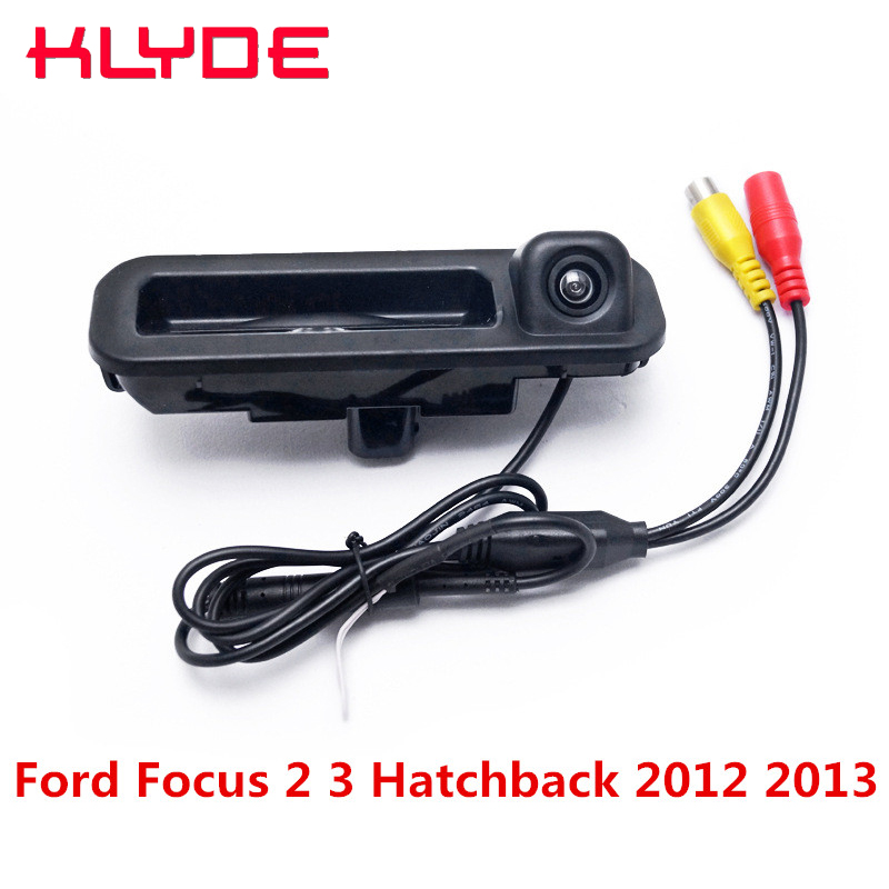 KLYDE Car Rear View Reverse Camera Backup Parking Camera With Wire 170D Night Vision For Ford Focus 2 3 Hatchback 2012 2013 2014 dynamic trajectory tracking auto backup parking reverse camera rearview rear view reversing parking camera for ford focus 2012