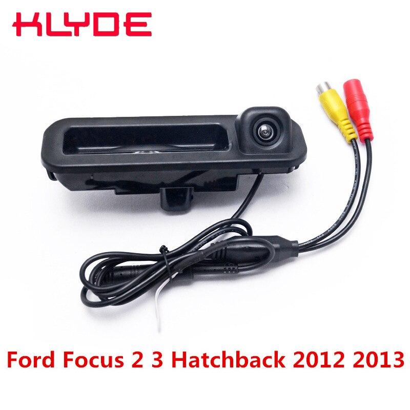KLYDE Vue Arrière de Voiture Caméra de Recul De Sauvegarde Parking Caméra Avec Fil 170D Nuit Vision Pour Ford Focus 2 3 Hayon 2012 2013 2014