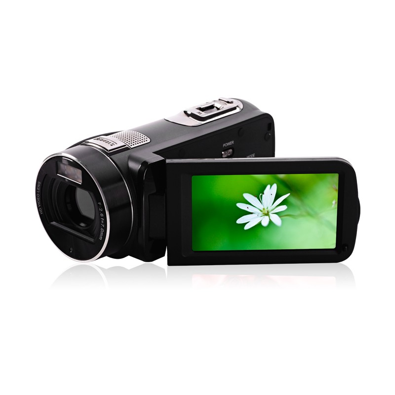 Marvie HDV-301 FHD 1080P Digital Video Camera Camcorder Night Vision Wide Angle Macro Fisheye Shooting 24MP 3 Inch Screen 2