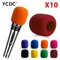 + Cheap Sale+Free Shipping + 10Pcs Handheld Stage wireless microphone Windscreen Foam Mic Cover Karaoke DJ Sale Yellow EN9971