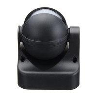 180 Degree Auto PIR Motion Sensor Detector Switch Home Garden Outdoor Light Lamp Switch Black