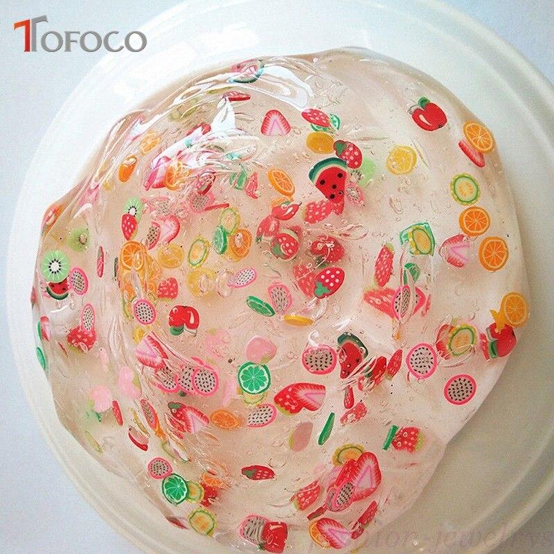 TOFOCO 12 Type/Set Fruit Slices Filler For Nails Art Tips/Balls Slime Fruit For Kids Lizun DIY Accessories Supplies Decoration