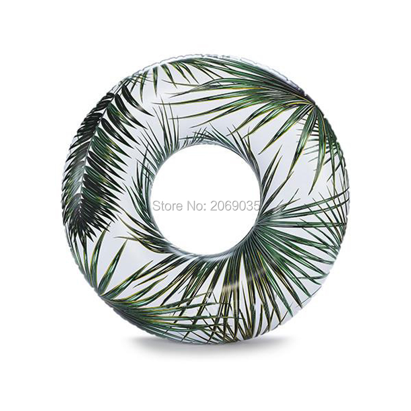 115cm Giant Tropical Palm/Rainbow Trip/Starry Eyed Swimming Ring For Women Inflatable Pool Float Water Party Toys Ins Hot Sell