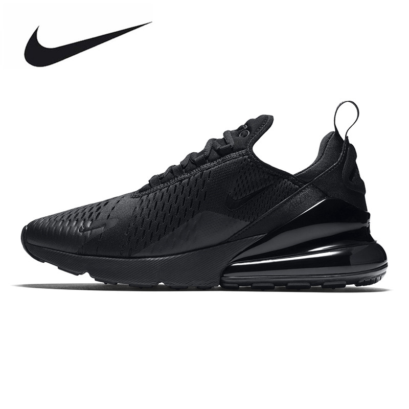 new style a592e 5fd6b NIKE AIR MAX 270 Men s Running Shoes, Black, Shock Absorption  Wear-resistant Breathable Lightweight AH8050 005