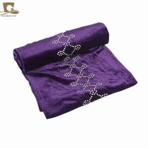 Image 5 - Novo Luxo magia Veludo Nigeriano Diamante Cravejado Extra Longas mulheres muçulmanas Cabeça Turbante envoltório Lenço Mulheres Hijab Turbante
